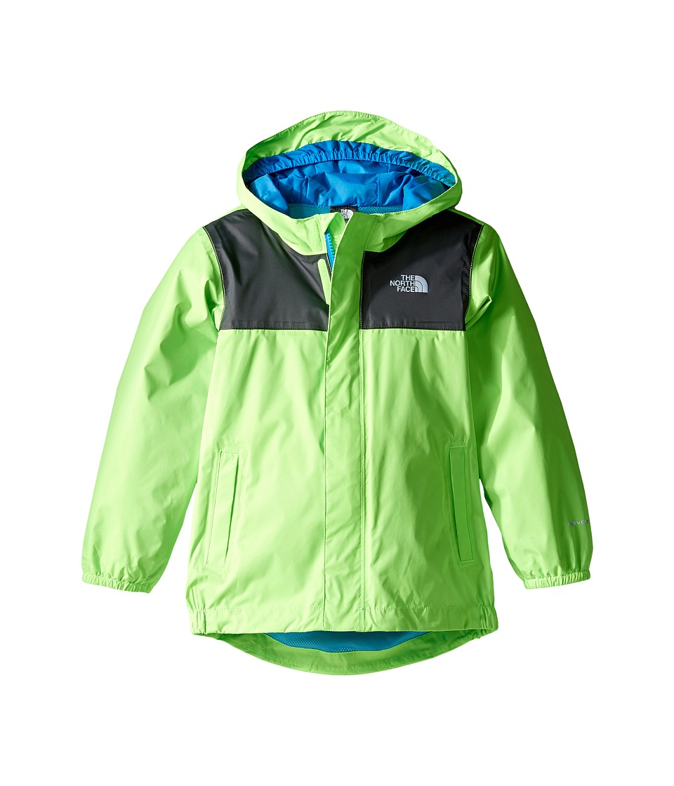 The North Face Kids Tailout Rain Jacket (Toddler) (Power Green) Boy