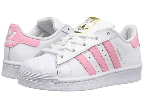 adidas Originals Kids Superstar (Little Kid) - White/Pink