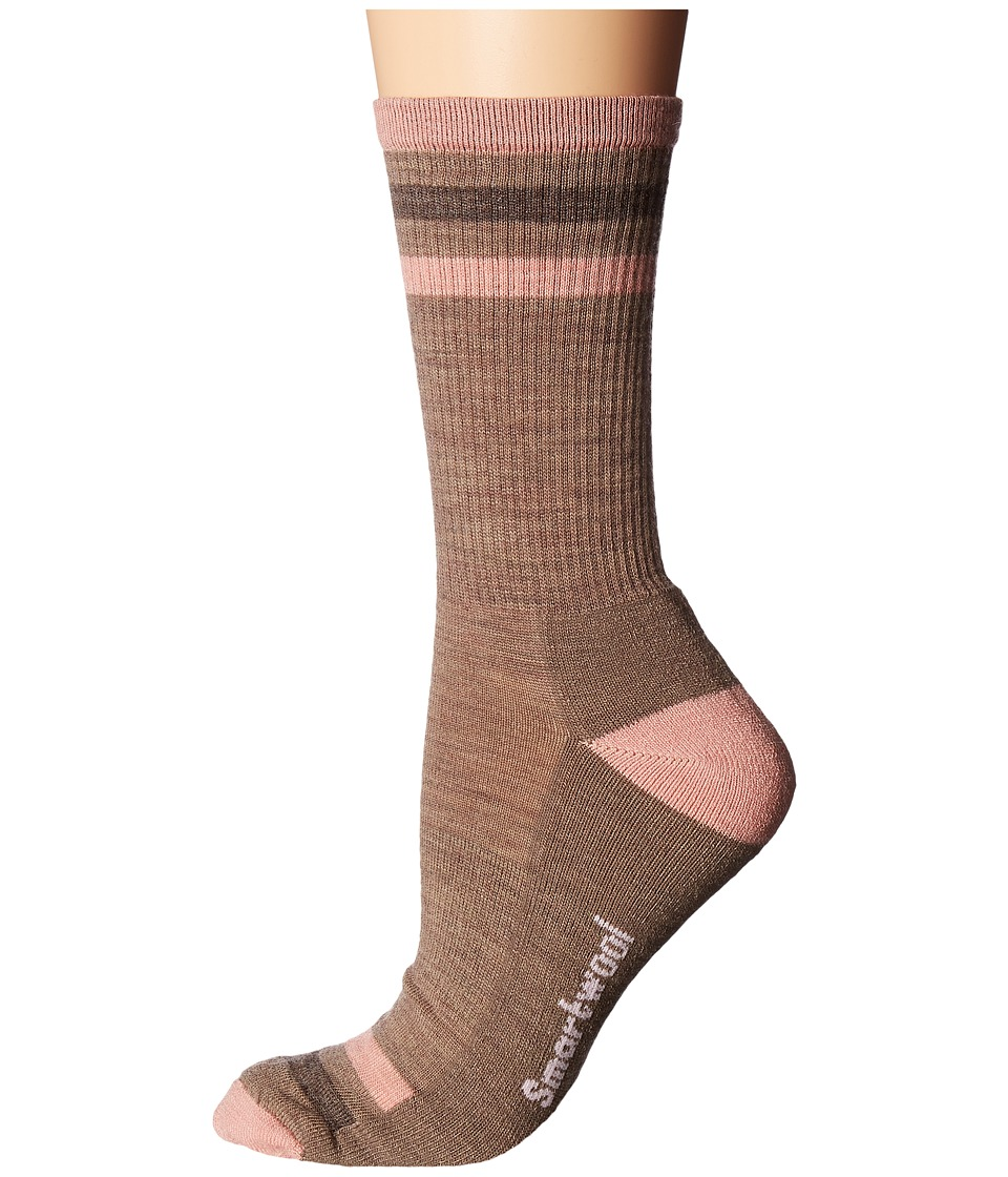 Smartwool Striped Hike Light Crew (Fossil) Women's Crew C...
