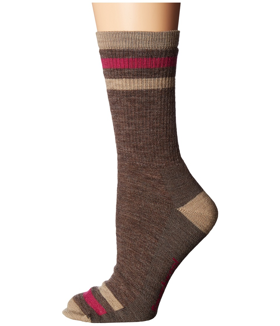 Smartwool Striped Hike Light Crew (Charcoal) Women's Crew...