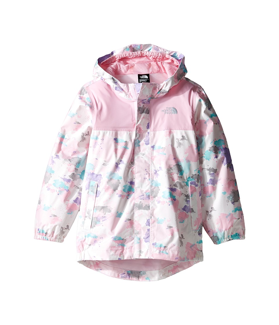 The North Face Kids Tailout Rain Jacket (Toddler) (Lilac Sachet Pink Watercolor Print) Girl