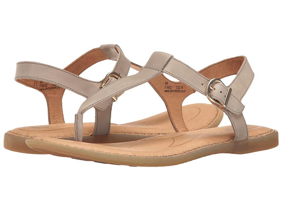 Born - Aswan (Light Grey Full Grain) Womens Sandals