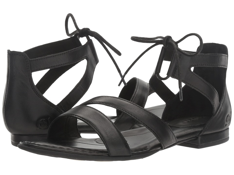 Born - Casma (Black Full Grain) Womens Dress Flat Shoes