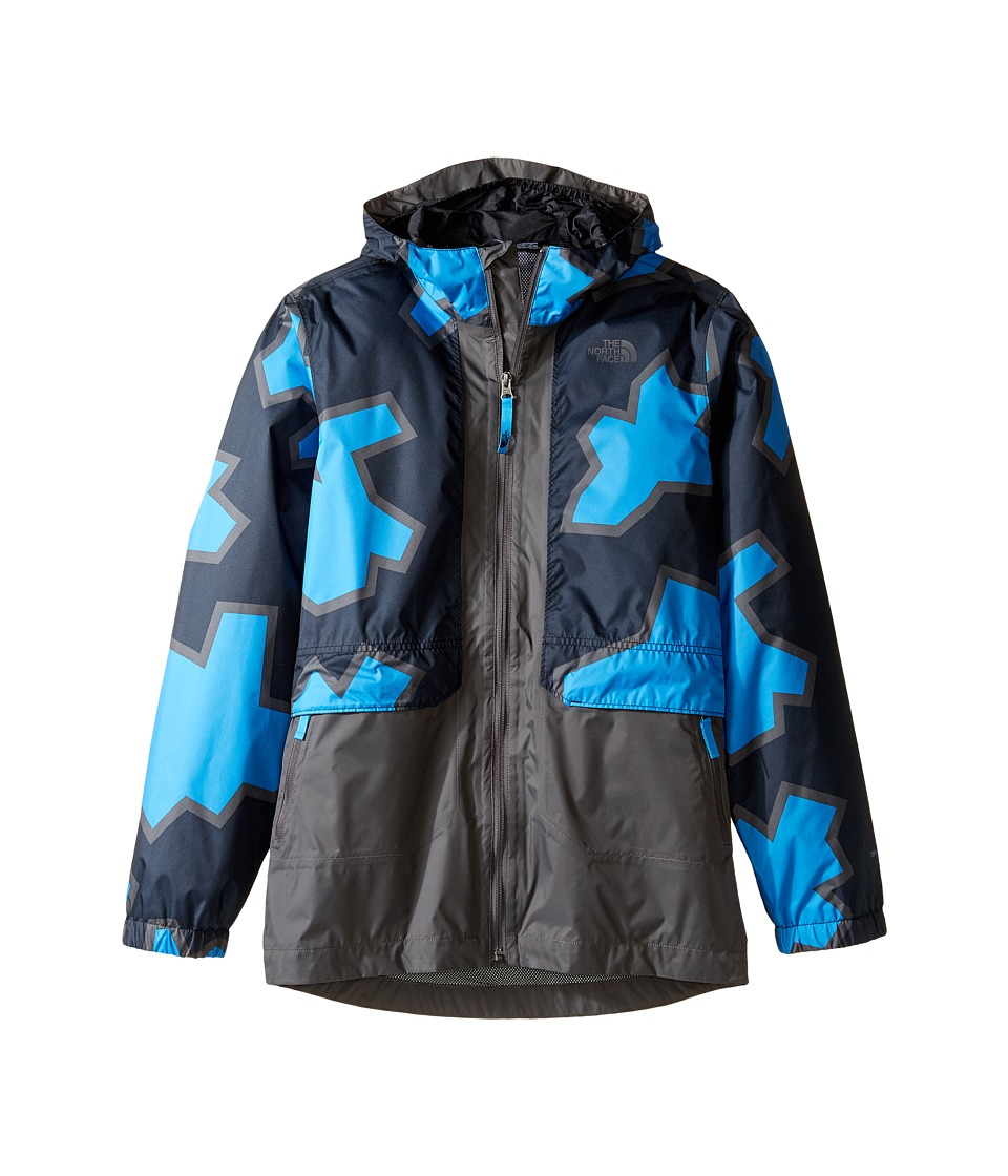 The North Face Kids Quinn Rain Jacket (Little Kids/Big Kids) (Clear Lake Blue Oversized Geo Print) Boy
