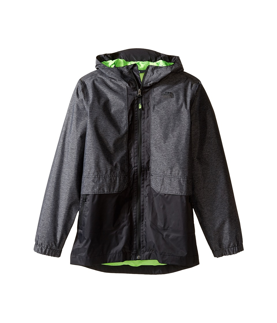 The North Face Kids Quinn Rain Jacket (Little Kids/Big Kids) (Graphite Grey Heather) Boy