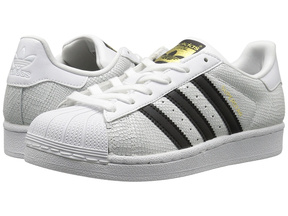 adidas Originals Kids - Superstar Reptile (Big Kid) (White/Black) Kids Shoes