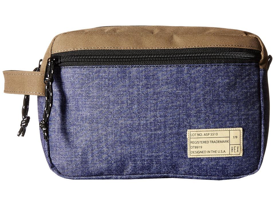HEX - Dopp Kits (Aspect Khaki/Denim) Bags