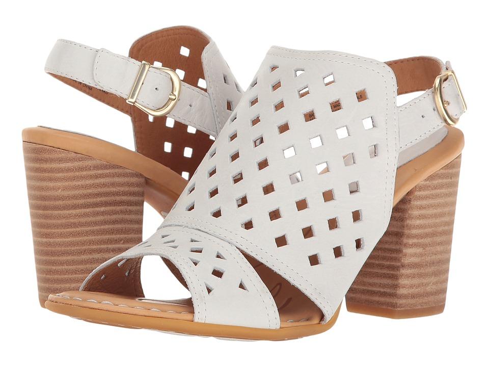 Born - Havana (White Full Grain) Womens Clog/Mule Shoes
