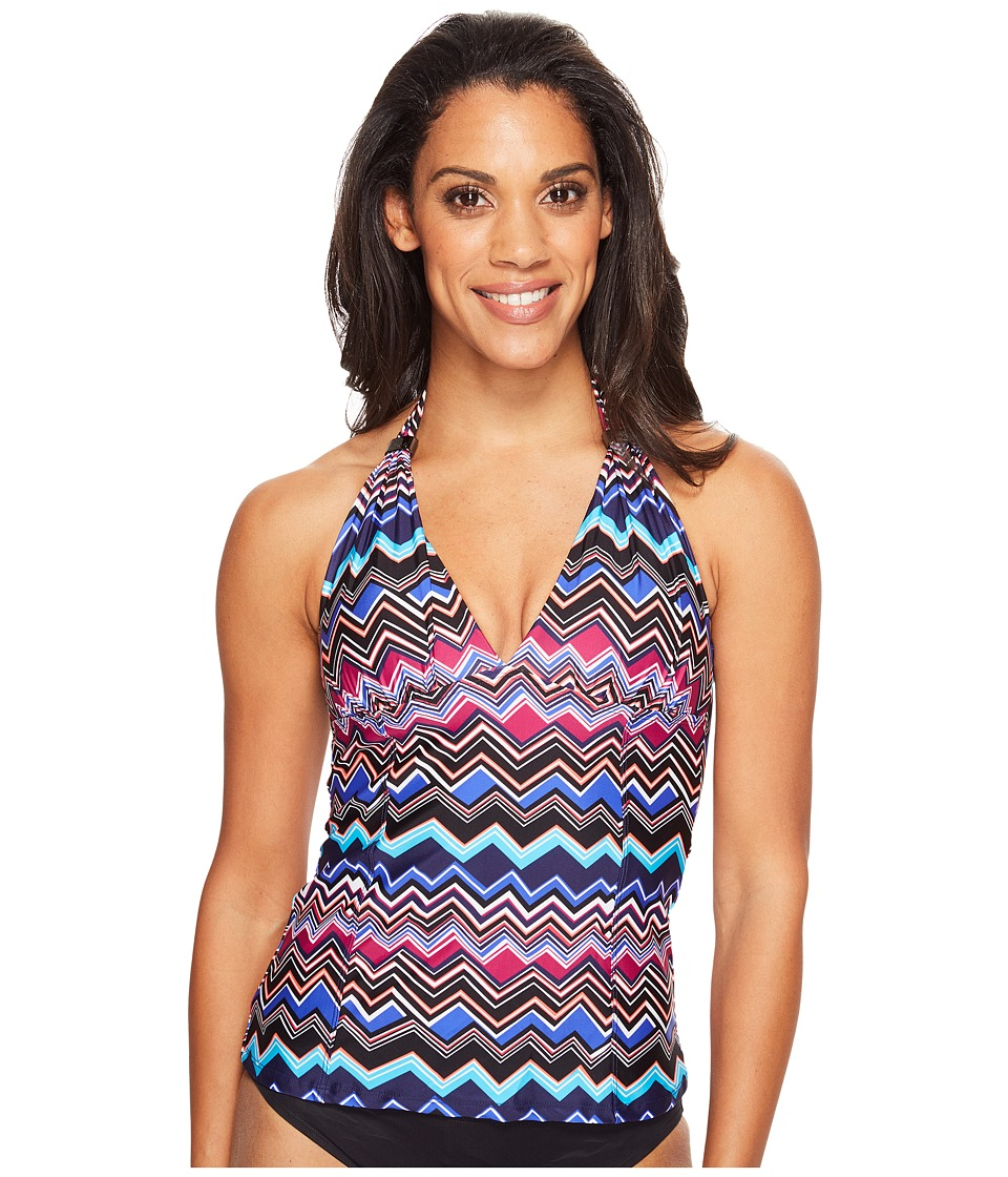 Lole Jamaique Tankini (Dark Spectrum Chevron Stripe) Women