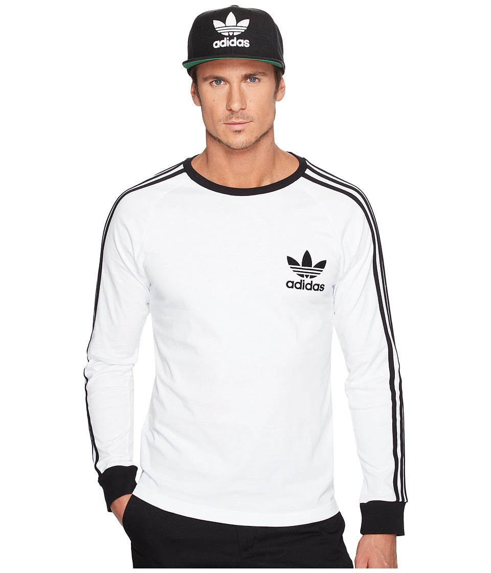 adidas Originals California Long Sleeve Tee (White) Men
