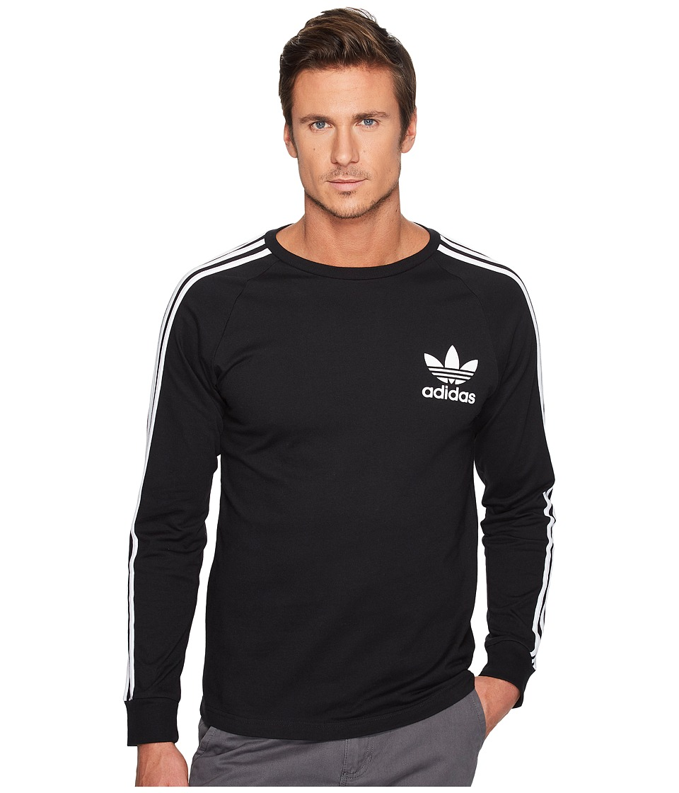 adidas Originals California Long Sleeve Tee (Black) Men