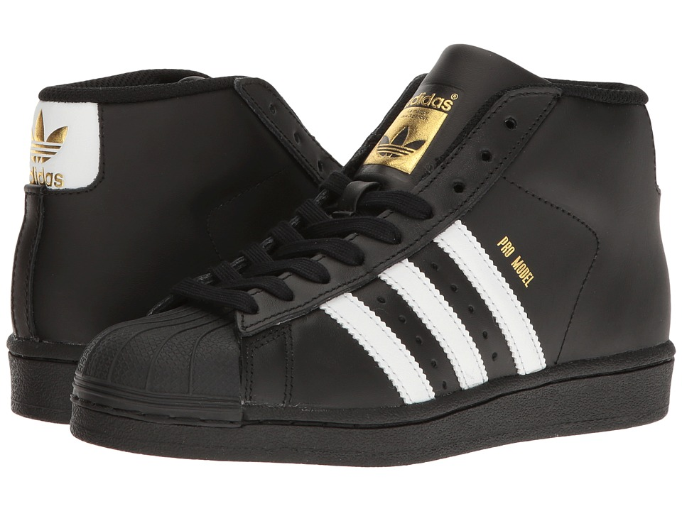 adidas Originals Kids Pro Model J (Big Kid) (Black/White/Gold) Kids Shoes
