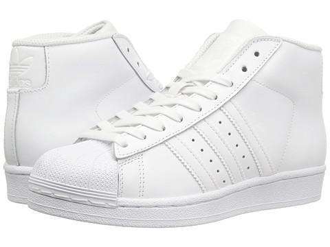 adidas Originals Kids Pro Model J (Big Kid) - White/White