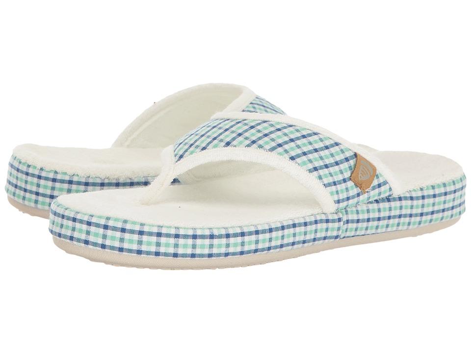 Acorn Thong Summerweight (Blue Plaid) Slippers