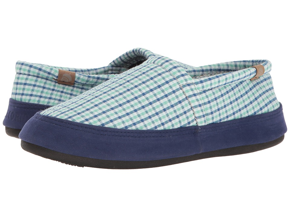 Acorn Acorn Moc Summerweight (Blue Plaid) Women