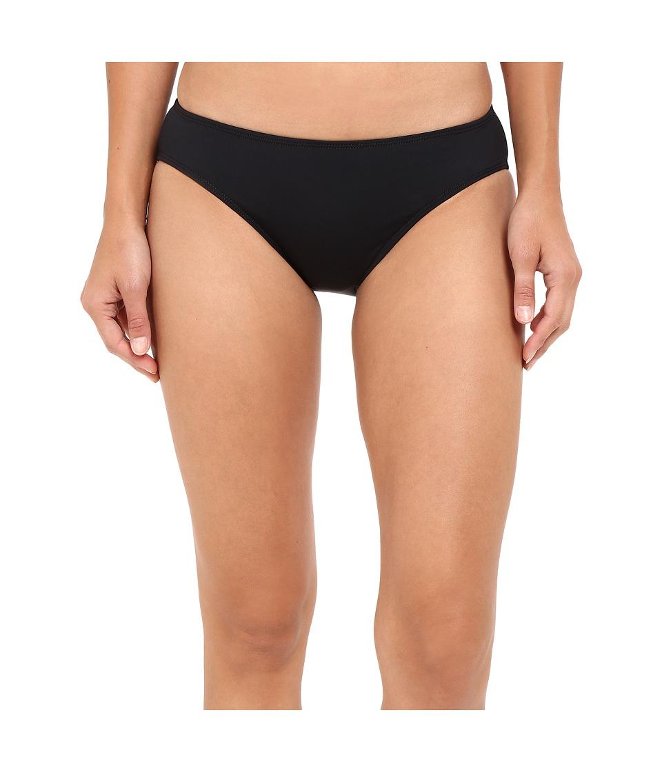 LAUREN Ralph Lauren Chevron Solid Hipster Bottom (Black)