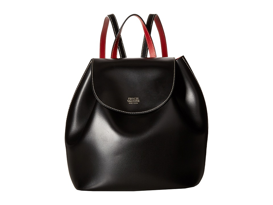 Frances Valentine - Ann Small Drawstring Backpack (Black) Backpack Bags