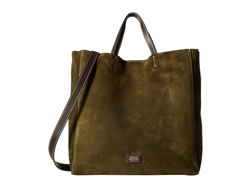 Frances Valentine - Large Margaret Suede Tote (Olive) Tote Handbags