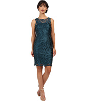 Adrianna Papell - Sleeveless Guipure Cocktail Dress