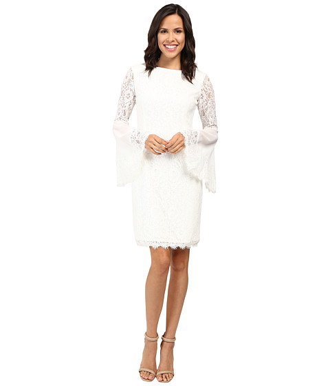NUE by Shani Sheath Dress with Bell Sleeves