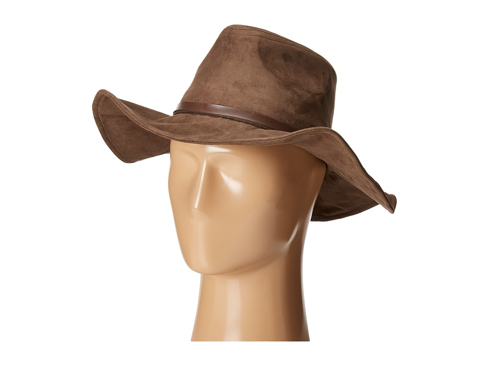 San Diego Hat Company Kids - Faux Suede Floppy Fedora Hat with Wired Brim and Faux Leather Band