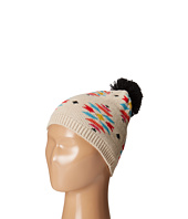 San Diego Hat Company Kids - Pattern Beanie with Pom and Ribbed Opening (Little Kids)