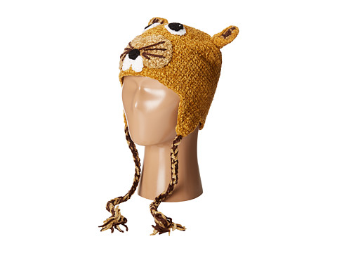 San Diego Hat Company Kids Crochet Squirrel with Ear Covers and Ties (Toddler/Little Kids)