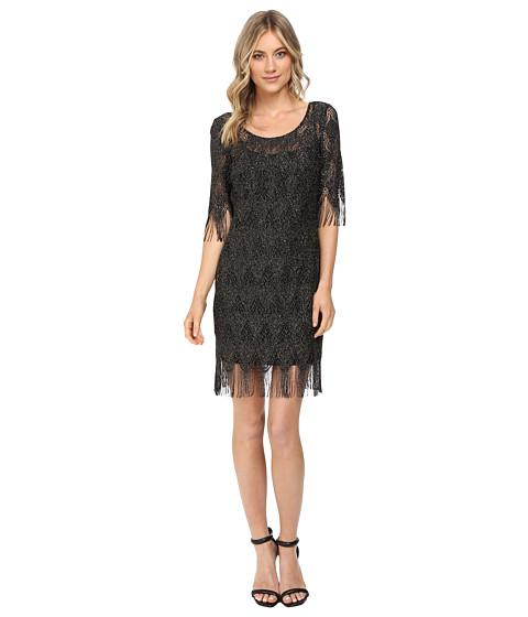 Jessica Simpson Metallic Frindge Dress