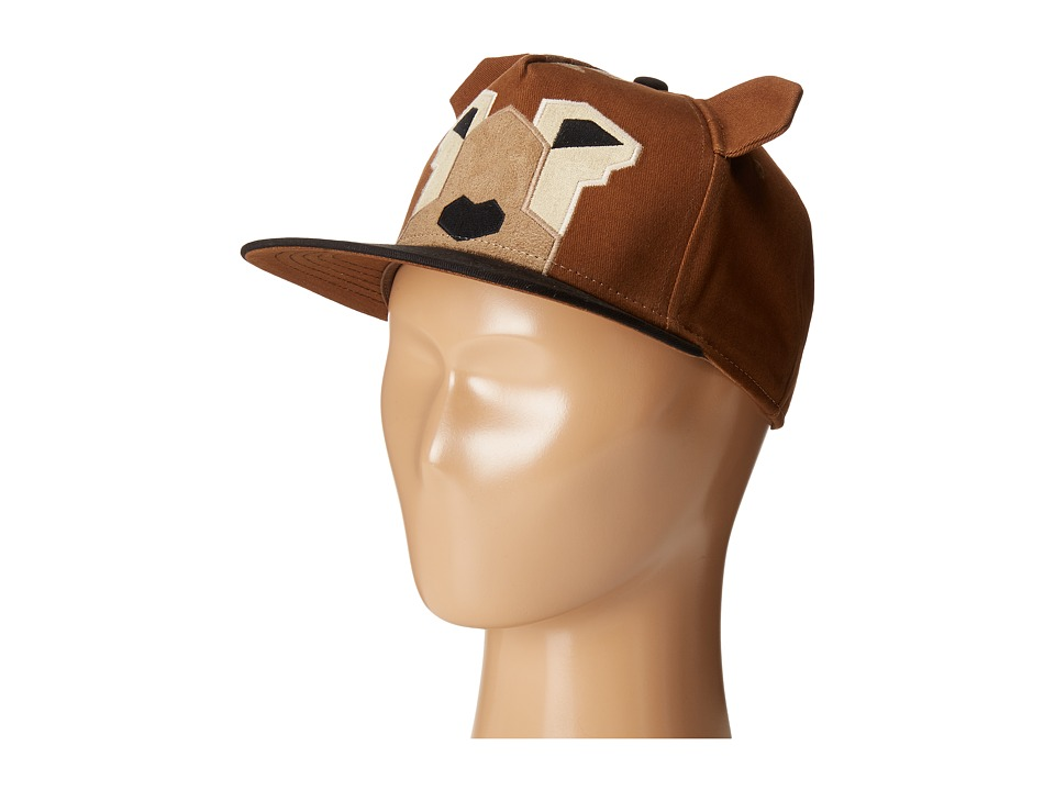 San Diego Hat Company Kids - Flat Bill Adjustable Cap Hat with Geometric Shaped Animal and Ears