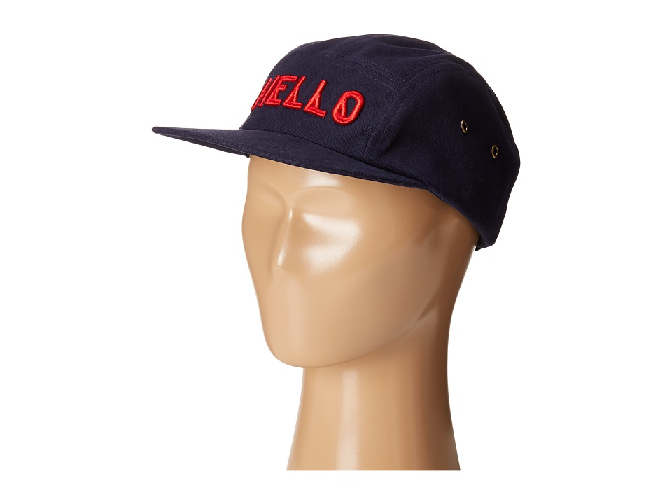San Diego Hat Company Kids - Cotton Twill 5 Panel Hat with Embroidered Front Hello and Goodbye On The Back