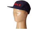 San Diego Hat Company Kids - Cotton Twill 5 Panel Hat with Embroidered Front Hello and Goodbye On The Back (Little Kids/Big Kids)