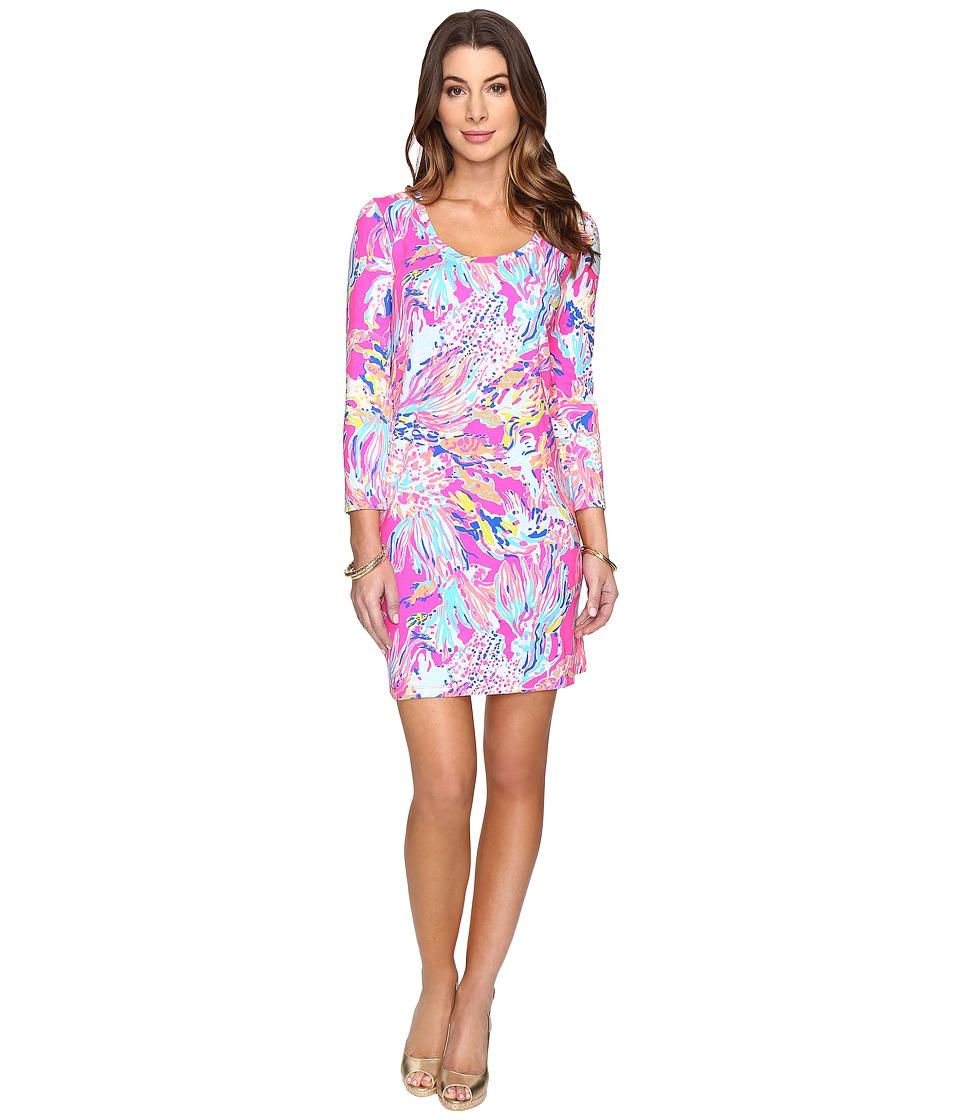 Lilly Pulitzer Devon Dress (Tiki Pink Sunken Treasure) Women