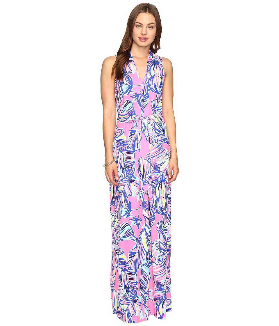 Lilly Pulitzer Colette Maxi Dress (Tiki Pink Cabana Crazed) Women