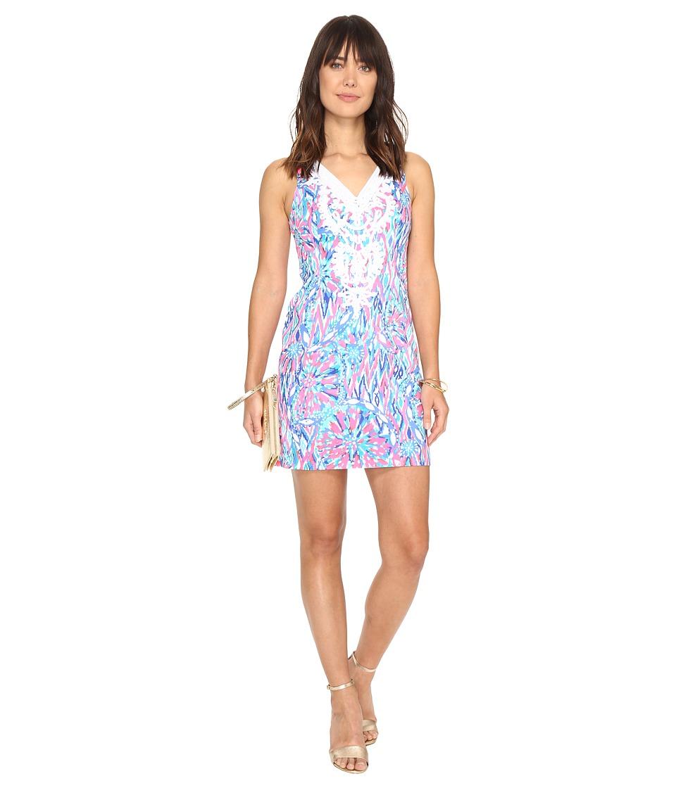 Lilly Pulitzer Gabby Shift Dress (Tiki Pink Shake It Up) Women