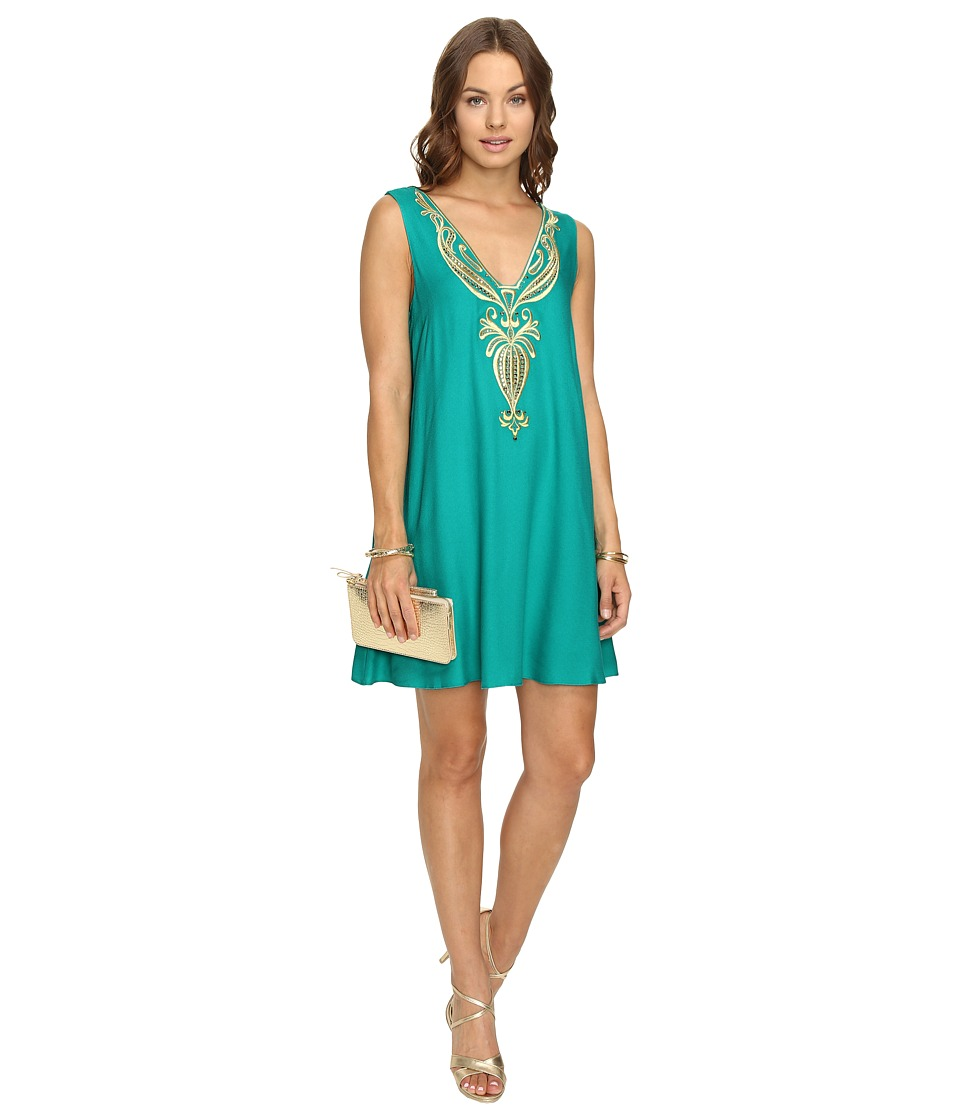 Lilly Pulitzer Owen Dress (Agate Green) Women