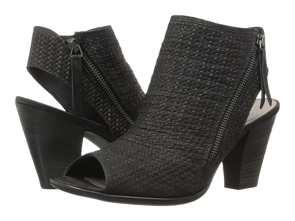 Paul Green Alexandra (Black Braid Leather) High Heels