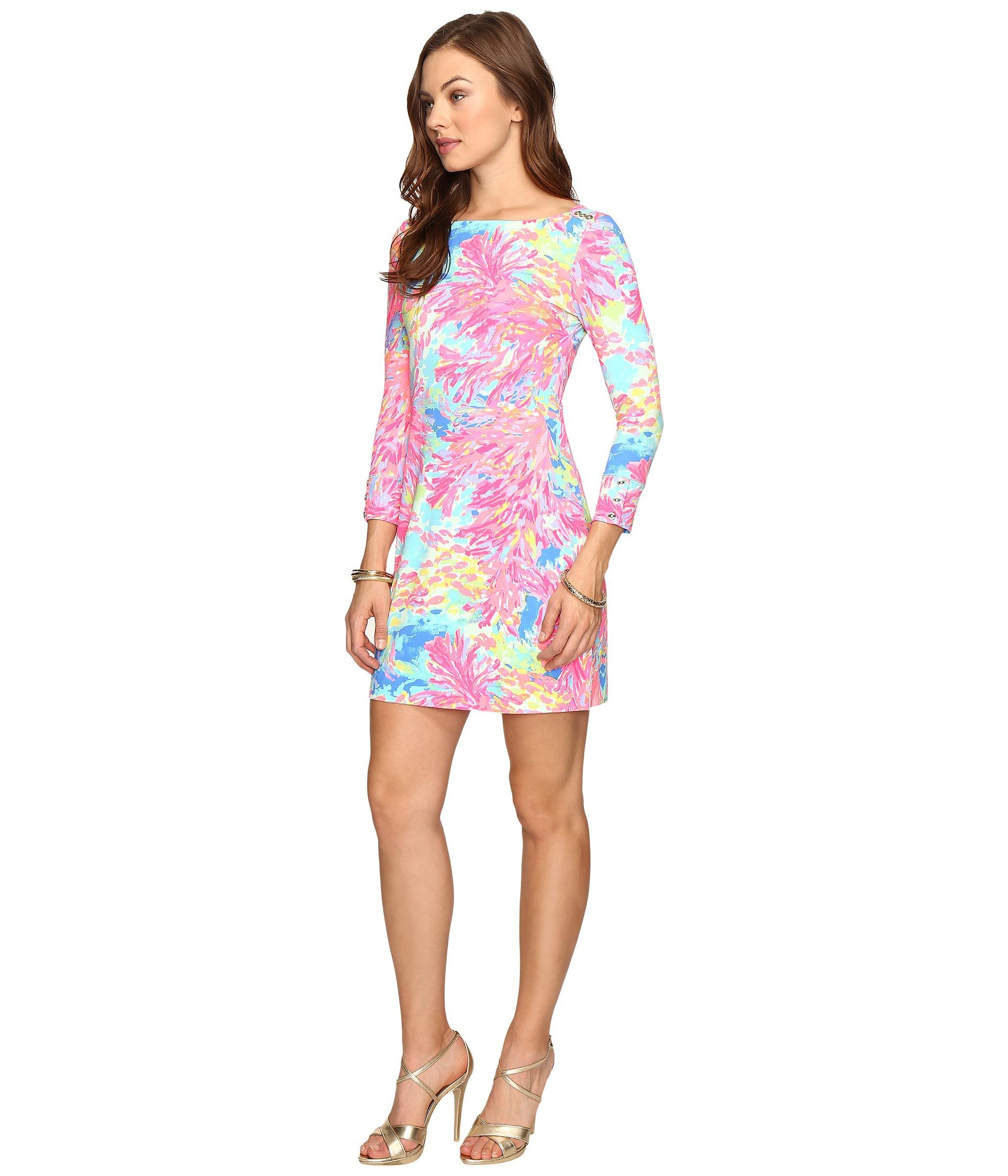 Upf  Sophie Dress Multi Palm Beach Coral