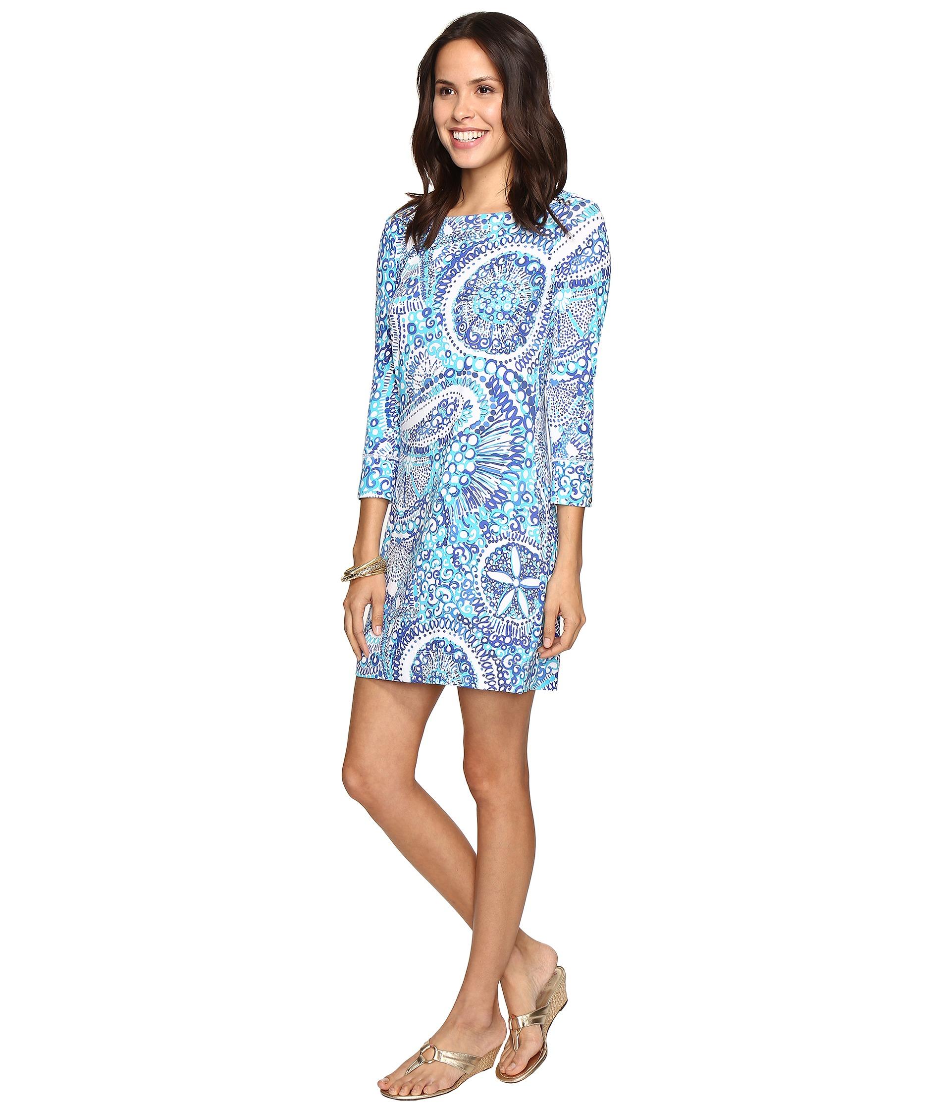 Sophie Dress: Lilly Pulitzer UPF 50+ Sophie Dress Resort White/Midnight