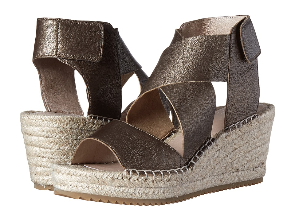 fc3d686859a Eileen Fisher-Willow (Bronze Metallic Leather) Womens Wedge Shoes