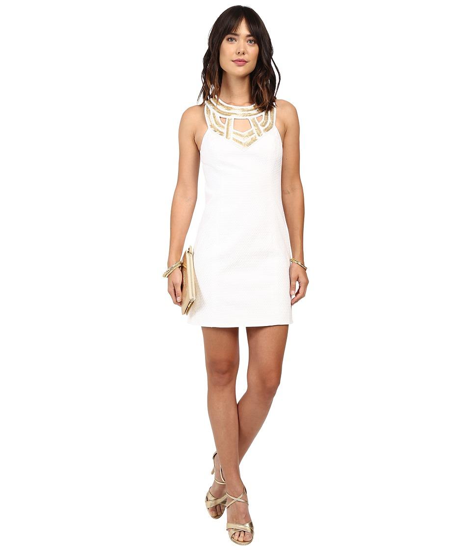 Lilly Pulitzer Carlton Shift Dress (Resort White) Women