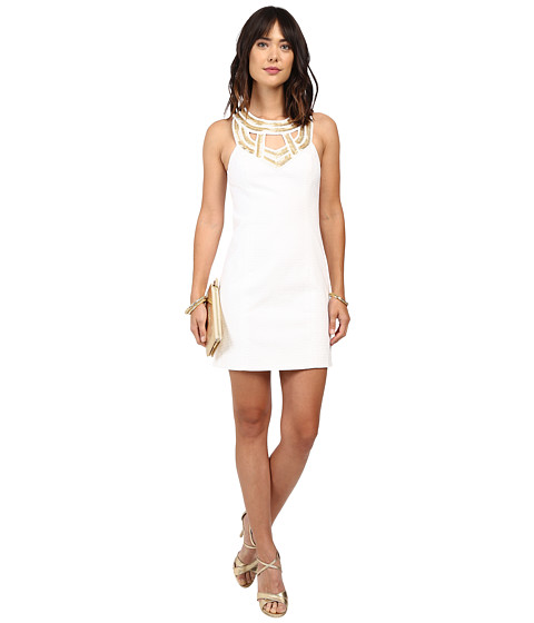 Lilly Pulitzer - Carlton Shift Dress (Resort White) Women's Dress