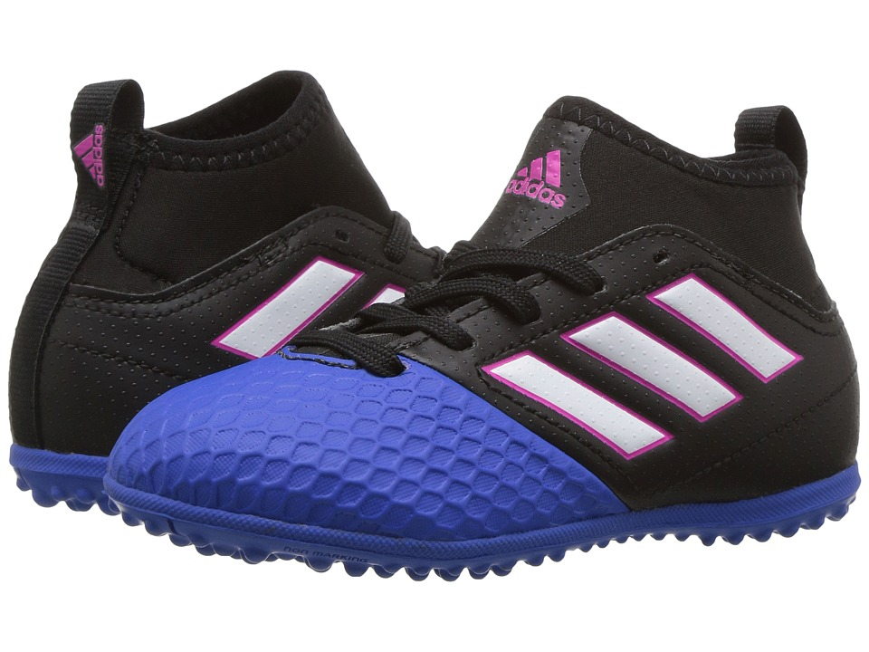 adidas Kids Ace 17.3 Primemesh TF Soccer (Little Kid/Big Kid) (Core Black/Footwear White/Blue) Kids Shoes