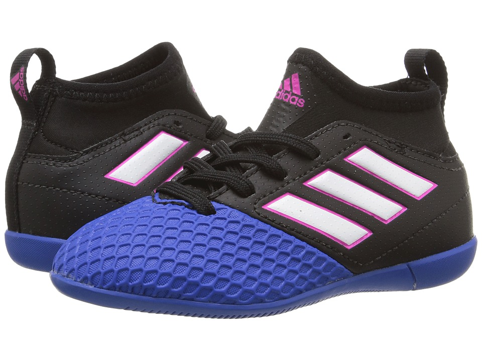 adidas Kids Ace 17.3 Primemesh IN Soccer (Little Kid/Big Kid) (Core Black/Footwear White/Blue) Kids Shoes