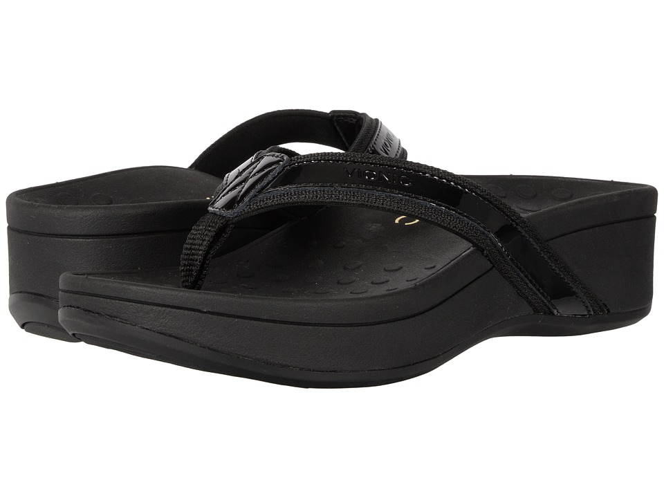 VIONIC High Tide (Black Patent Leather) Sandals