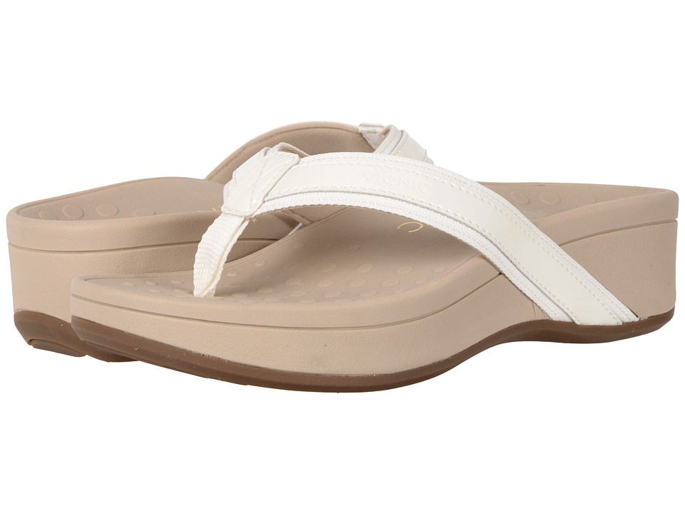 VIONIC High Tide (White Patent) Sandals