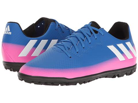 adidas Kids Messi 16.3 TF Soccer (Little Kid/Bid Kid) - Blue/Footwear White/Solar Orange