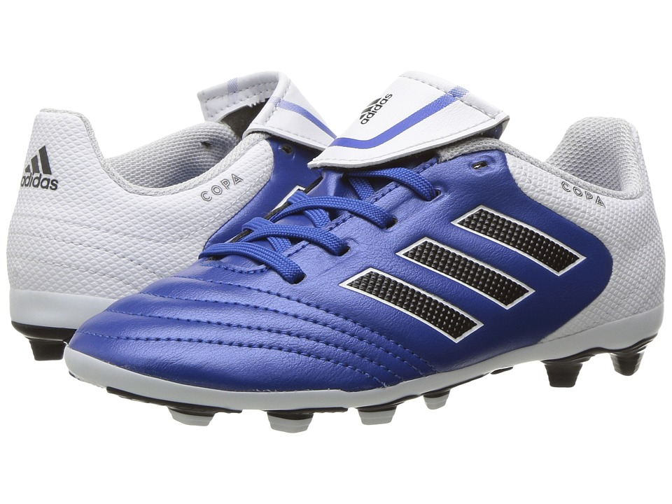 adidas Kids Copa 17.4 FxG Soccer (Little Kid/Bid Kid) (Blue/Footwear White/Core Black) Kids Shoes