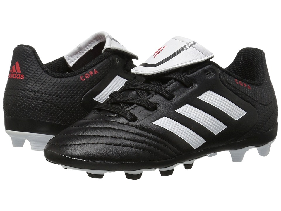 adidas Kids Copa 17.4 FxG Soccer (Little Kid/Bid Kid) (Core Black/Footwear White) Kids Shoes