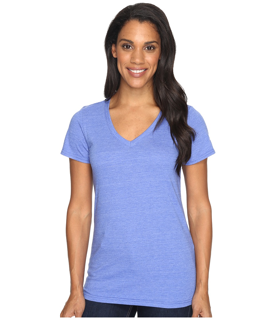 The North Face Short Sleeve Boyfriend Tri-Blend Tee (Amparo Blue Heather/Lavender Blue) Women