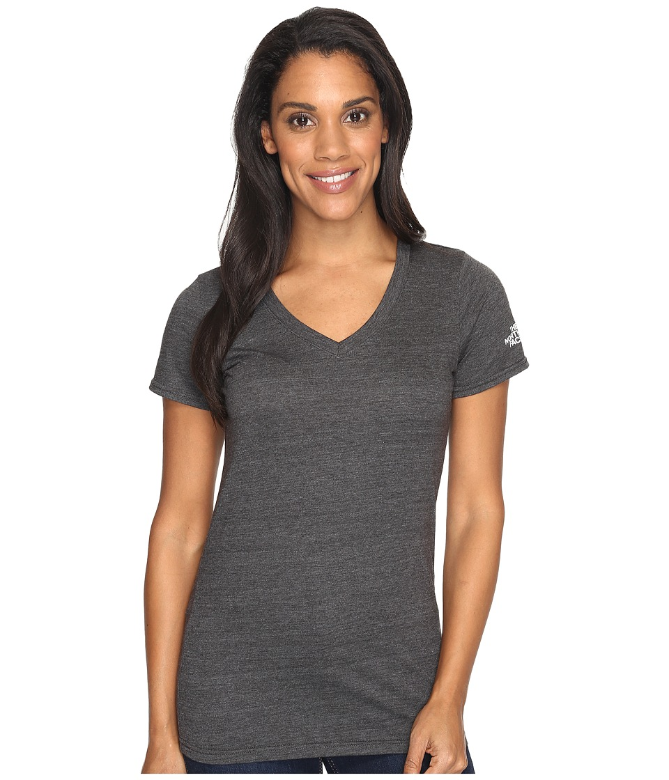 The North Face Short Sleeve Boyfriend Tri-Blend Tee (TNF Dark Grey Heather/TNF White) Women